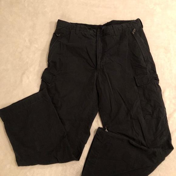 Gap Black Lined Cargo Pants Men's Size XL